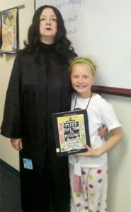 Miss Viola Swamp with Principal Lucy