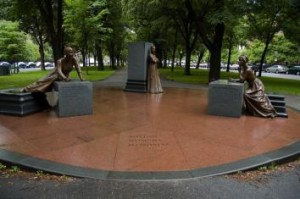Pictures of the Boston Women's Memorial on Commonwealth Avenue, Boston, Massachusetts
